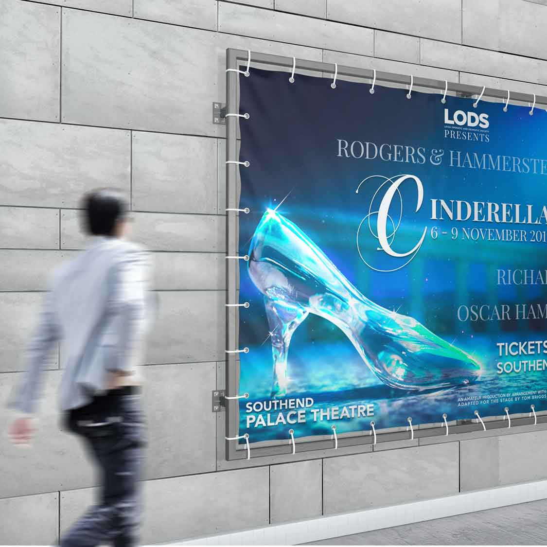 theatre publicity ideas cinderalla banner 2 the musical lods leigh operatic and dramatic society author studios