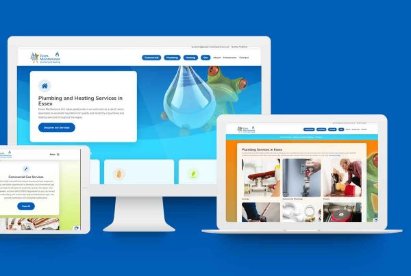 plumbing website design inspiration author studios essex maintenance ltd 1